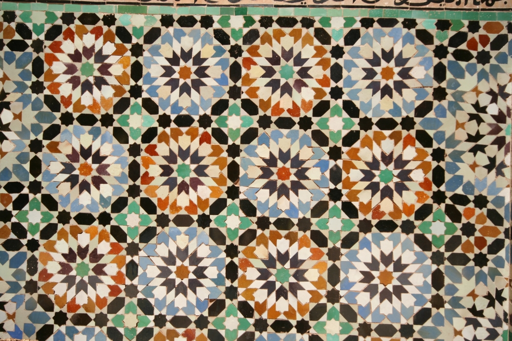 Moroccan tiles, Marrakech © Caroline Sylger Jones