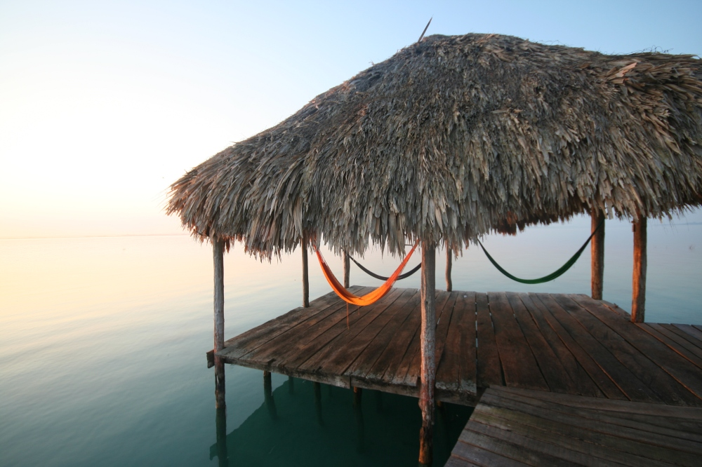 The hammock space overlooking the lagoon at Rancho Encantado in Mexico ©Caroline Sylger Jones